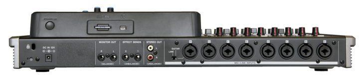 Tascam DP-24 SD Rückseite