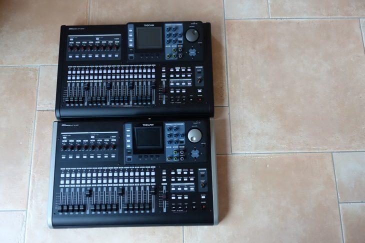 Tascam DP-24 SD und DP-32 SD Draufsicht