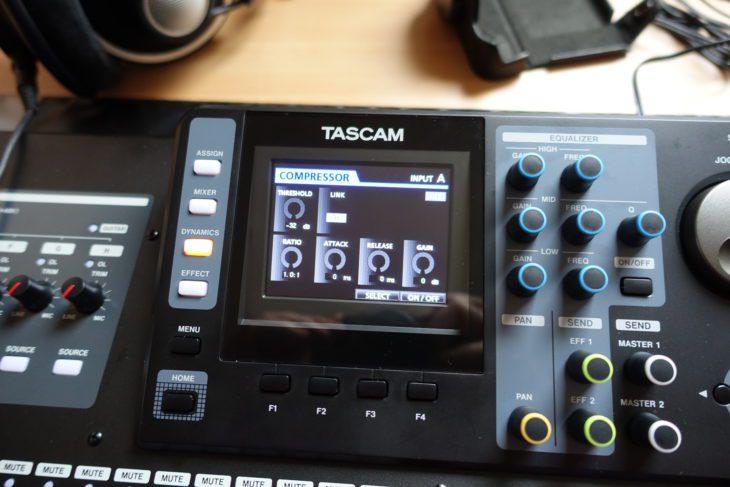 Tascam DP-32 SD Hauptseite