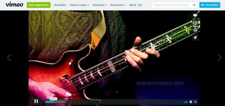 Die besten Webseiten für Gitarre youtube vimeo