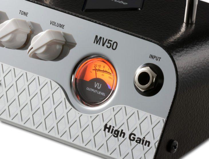 VOX MV50 High Gain VU meter