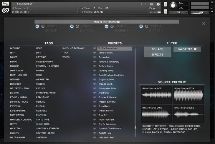 Preset-Browser Xosphere 2