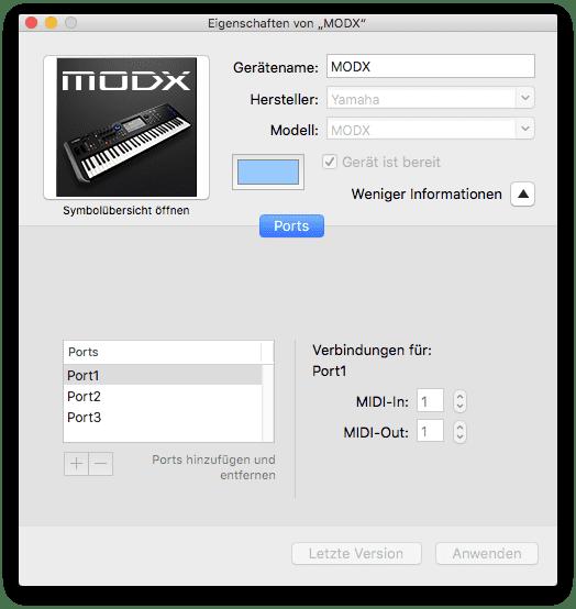 Audio-MIDI-Setup MAC