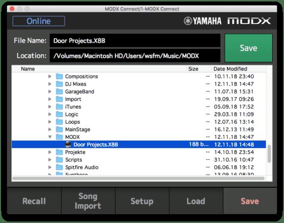 Performances koennen direkt auf Festplatte gesichert werden