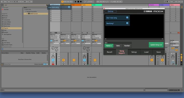 Songs koennen als MIDI-File direkt in die DAW importiert werden