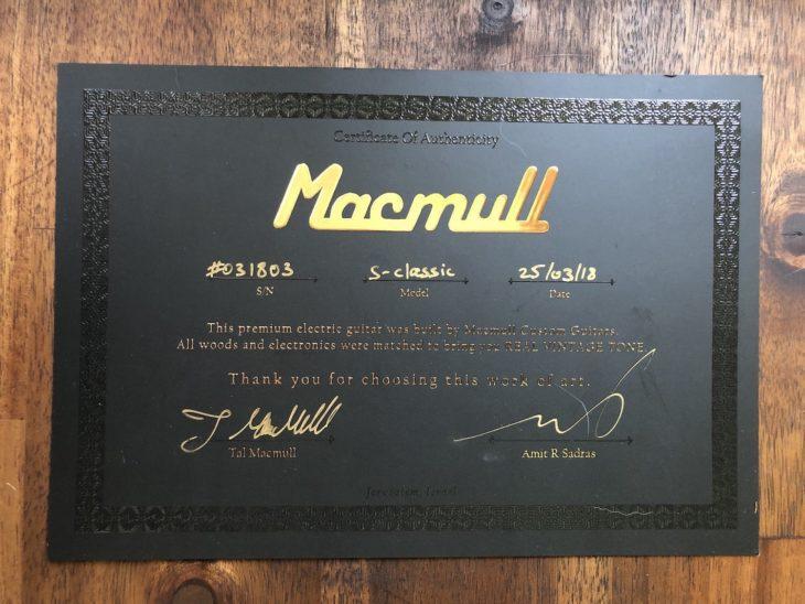 Macmull S-Classic Zertifikat