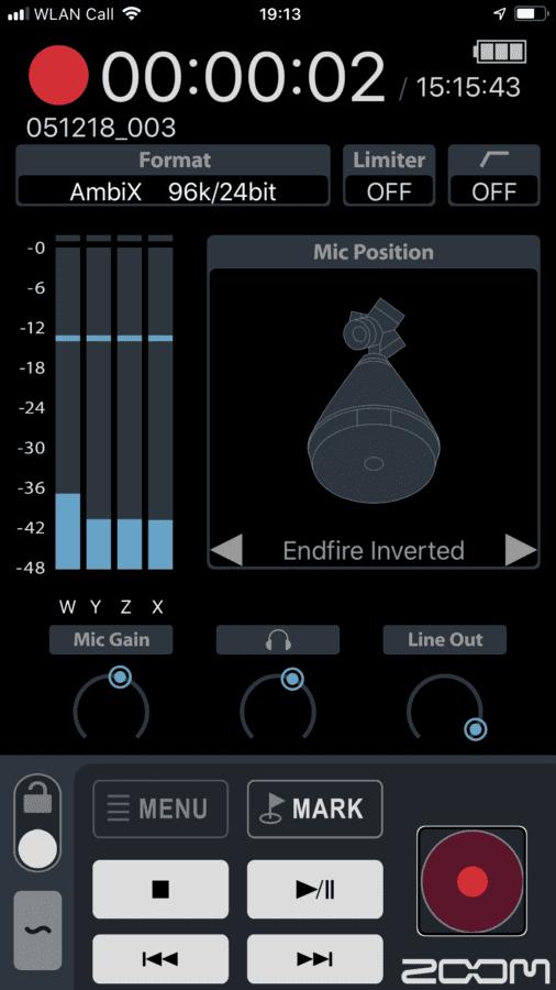 Zoom H3-App Screenshot 1