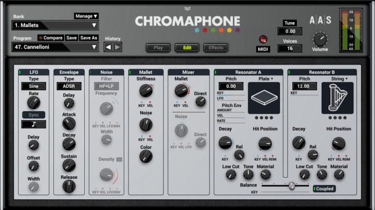 AAS Chromaphone 2 - Editiermöglchkeiten