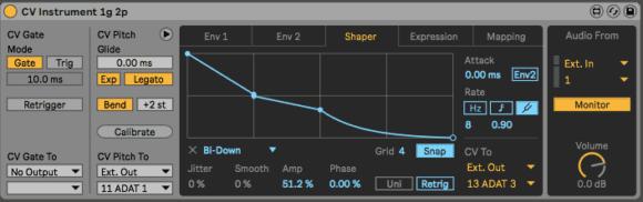 Ableton Live CV Tools - CV Instrument Shaper