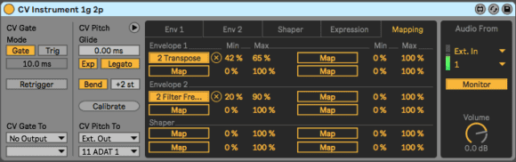 Ableton Live CV Tools - mapping