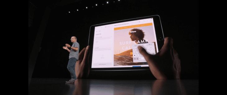 iPadOS Floating Keyboard