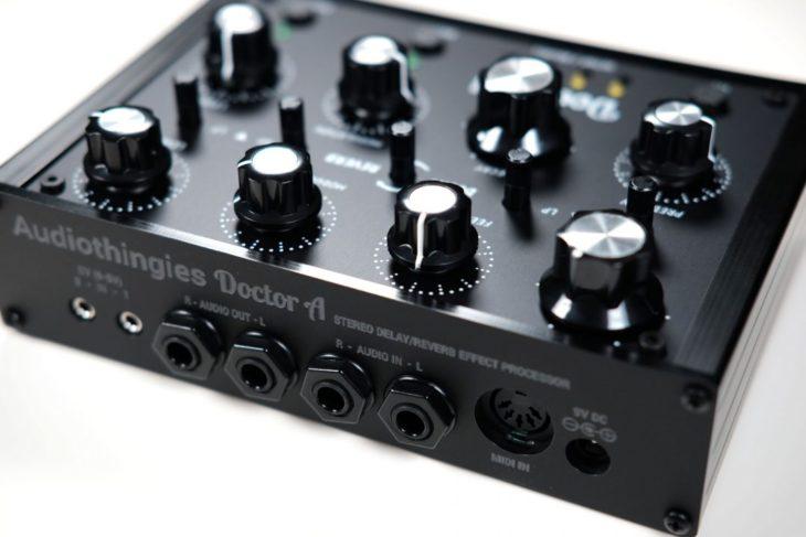 Audiothingies Doctor A - Anschlüsse für Stereo-Audio, MIDI und CV