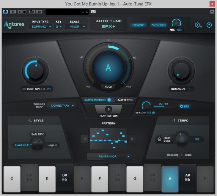 Auto-Tune EFX+ Pattern