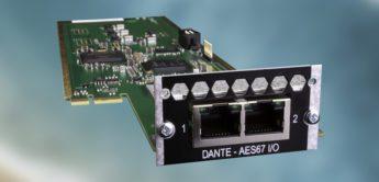 128-Kanal DANTE-Audiokarte für Avid Pro Tools erhältlich