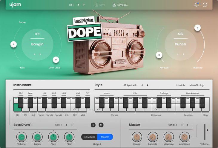 Beatmaker DOPE 2 User Interface