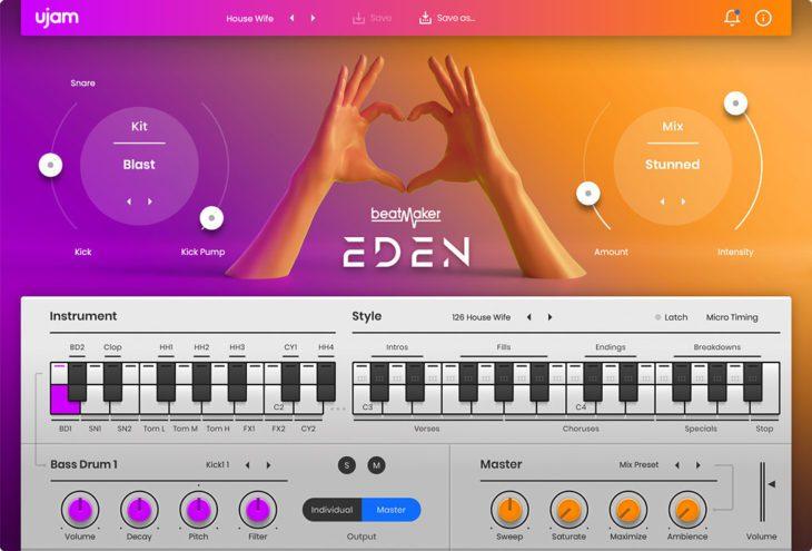 Beatmaker EDEN 2 User Interface