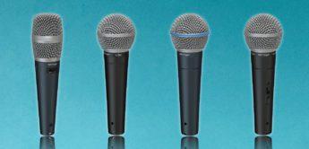 Behringer stellt Shure Mikrofon Klone vor: SL 84C, BA 85A, SL 85S, SB 78A