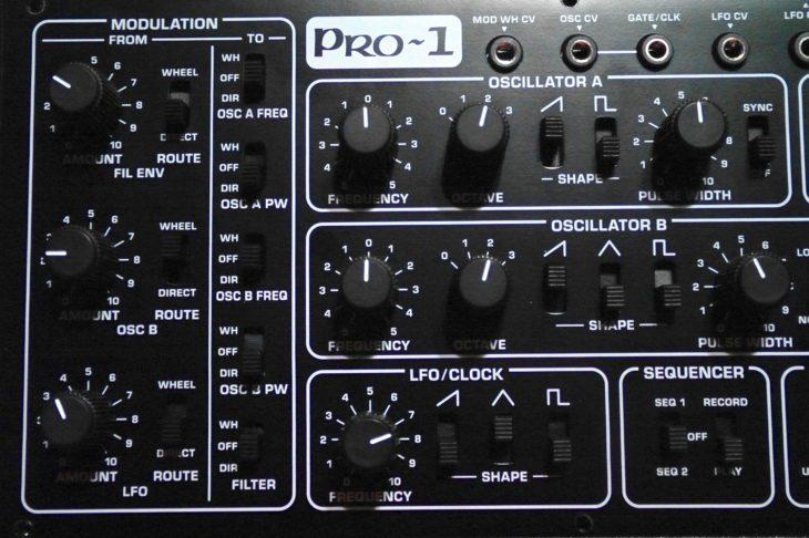 Die Modulations-Matrix des Pro-1