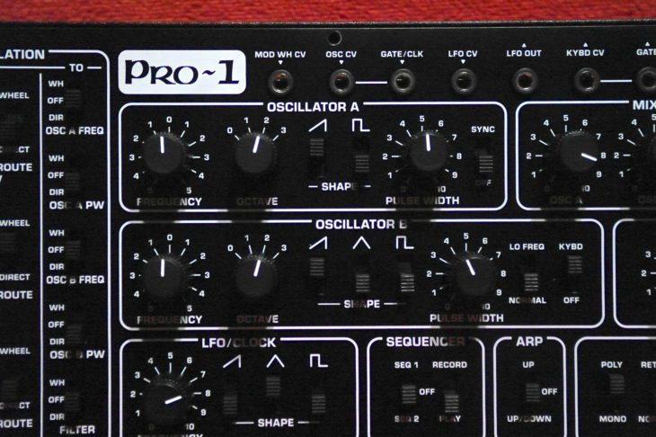 Die VCO-Sektion des Pro-1