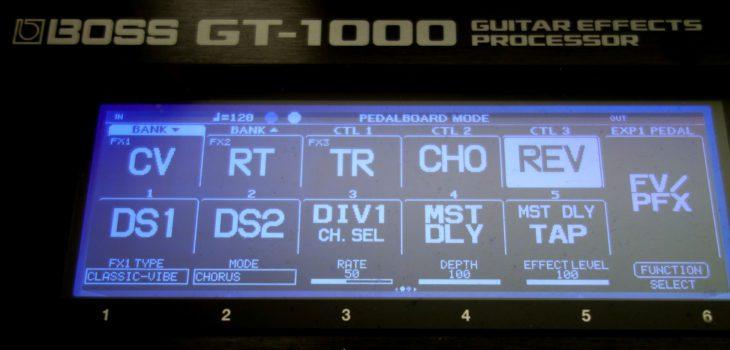 BOSS GT 1000 V3 Gitarren Multieffektpedal