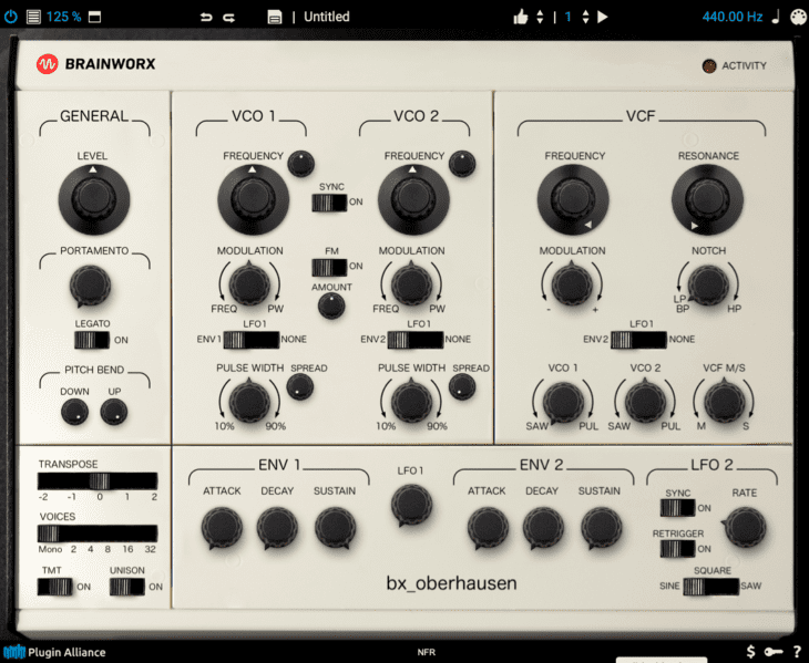 Brainworx bx_oberhausen Software Synthesizer