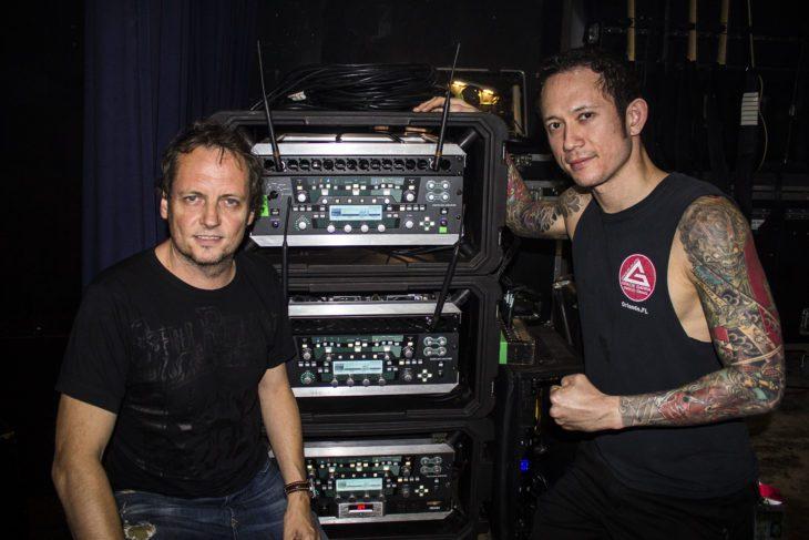 Christoph Kemper mit Matthew Heafy (Trivium)