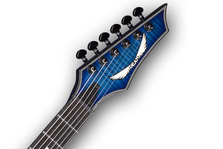 Dean Guitars Custom 450 Flame Top headstock