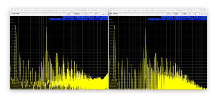 DRAWMER 1973 Vergleich - 50Hz+1kHz