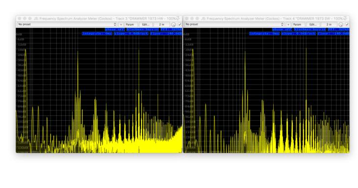 DRAWMER 1973 Vergleich - 50Hz+1kHz+10kHz