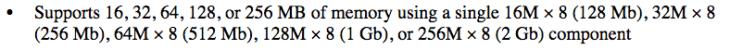Theoretisch könnte die MCU mehr RAM verwalten