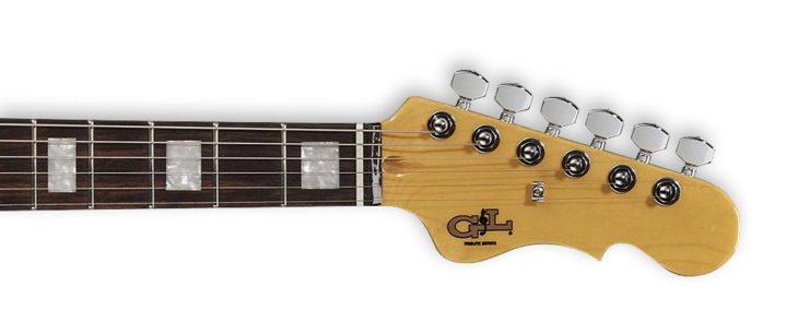 G&L Tribute Doheny Surf Green E-Gitarre Kopfplatte
