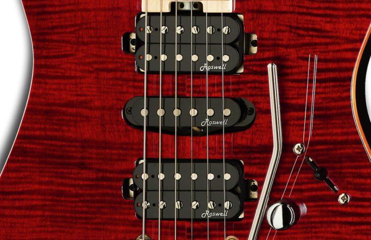 Harley Benton Fusion-II HSH MN FCH E-Gitarre Roswell Pickups