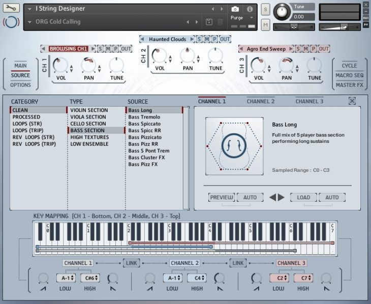 Heavyocity NOVO Modern Strings - String Designer Browser
