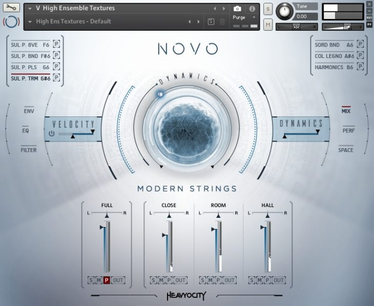 Heavyocity - NOVO Modern Strings User Interface