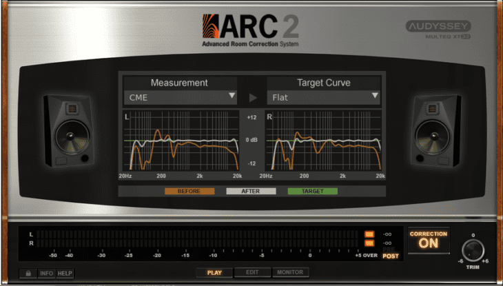 IK Multimedia ARC 2 - Ergebniskurve LR