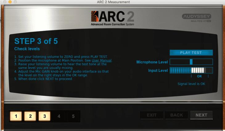 IK Multimedia ARC 2 - Messung Einpegeln