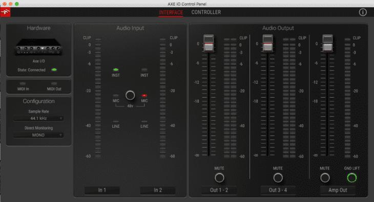 IK Multimedia AXE IO Oberfläche Interface