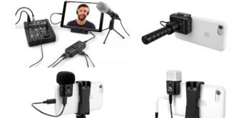 Vier mobile Interfaces: IK Multimedia iRig Mic Cast 2, Mic Cast HD, Mic Video, Stream