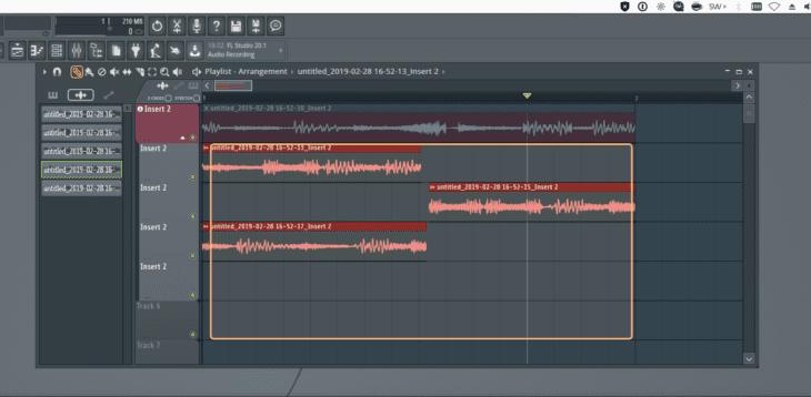 FL Studio 20 Audio Comping 1 Auswahl