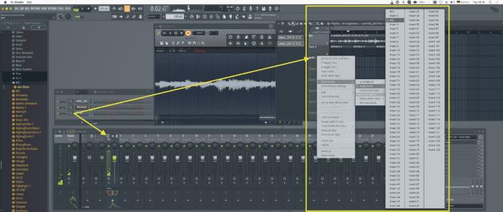 Track -> Mixerkanalzuweisung