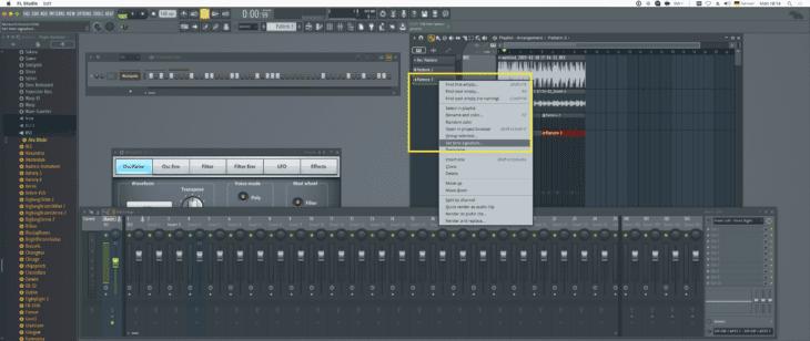 FL Studio 20 Tempo per Pattern
