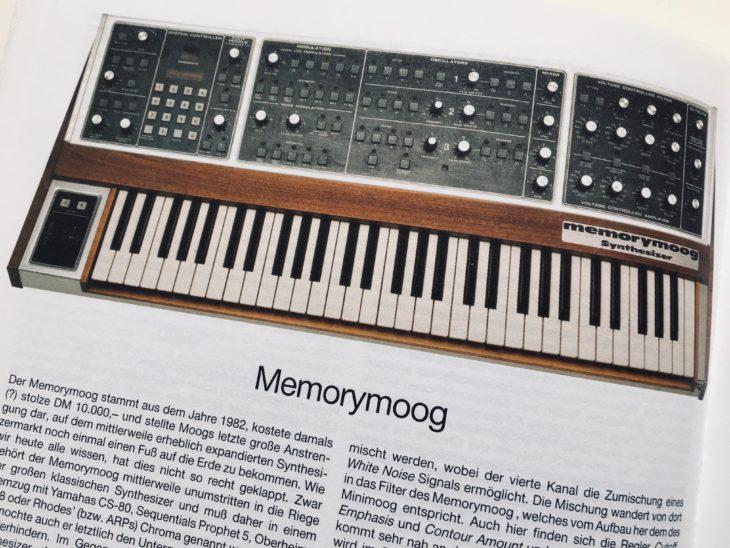 """Der erste band von """"Synthesizer von Gestern"""" behandelt die großen Klassiker wie den Memorymoog."""