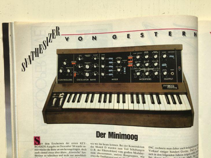 Der Minimoog war der erste Synthesizer, den Matthias Becker in der Keyboards-Serie Synthesizer von Gestern vorstellte. Und er ist das einzige Vintage-Instrument, das er heute noch ab und an einsetzt.