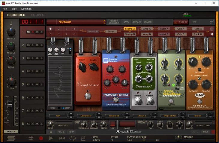 IK Multimedia iRig Micro Amp in Verbindung mit der Amplitube 4 Software Pre Effects