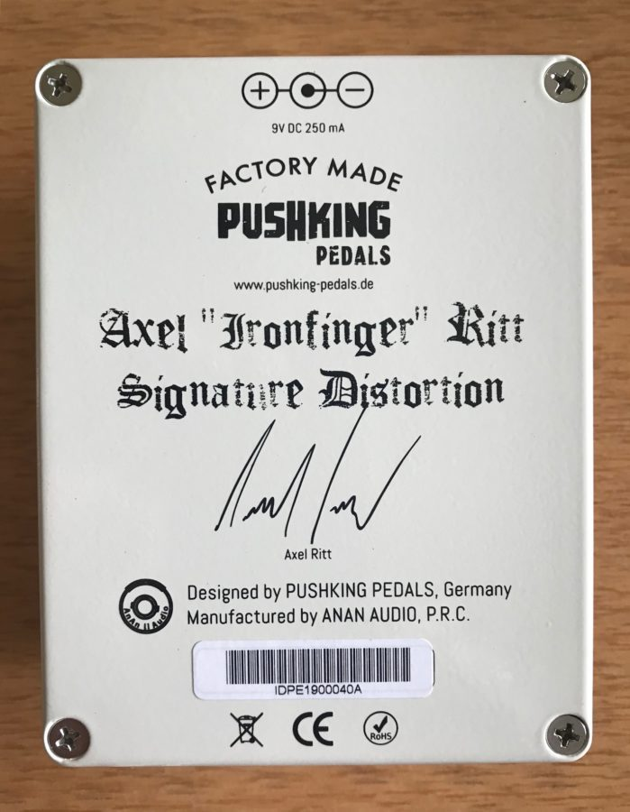 Ironfinger Axel Ritt Signature Distortion Back