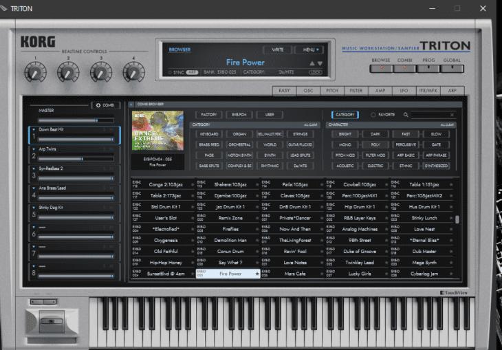 KORG Collection TRITON Sound Browser