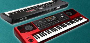 Korg Kross 2 88 MB und Korg Pa700 RD mit mehr Sounds und neuer Optik