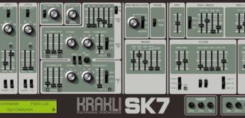 Krakli SK7, Freeware Synthesizer-Plugin für VST