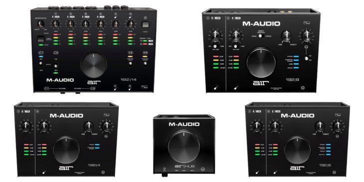 m-audio air usb interfaces 192-4 8 6 14 16 hub