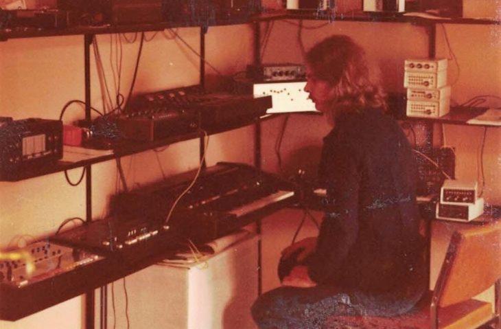 Manfred Fricke 1984 - mit diversen Drummaschinen